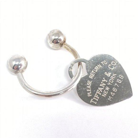 Authentic Tiffany Heart Tag Key Ring AG925